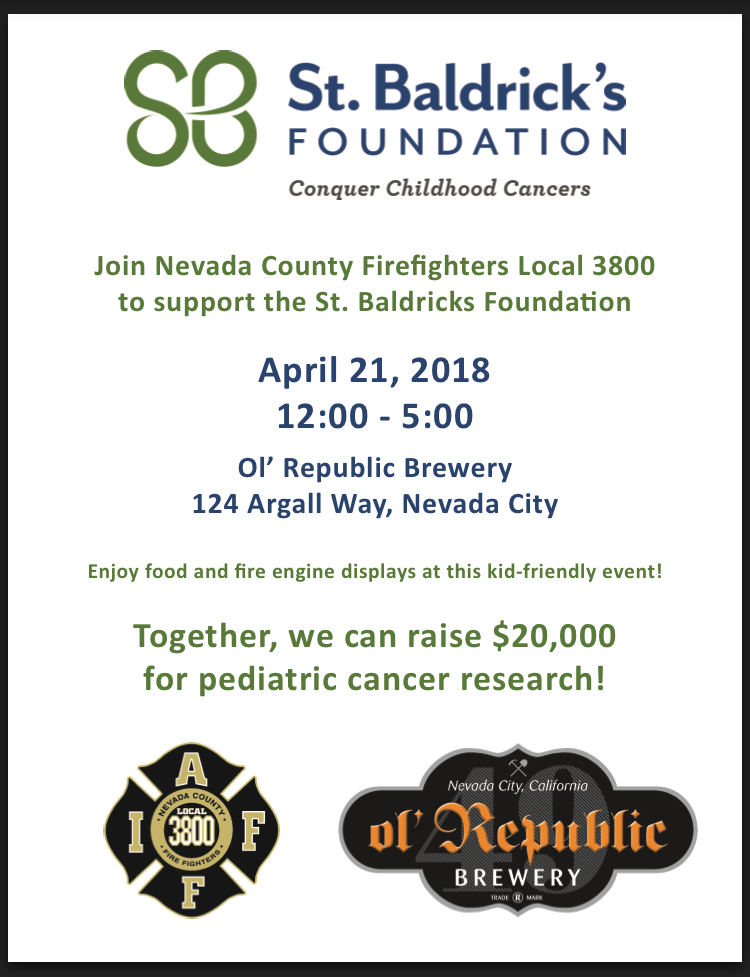0b750f191 Nevada County Firefighters Local 3800 and ol' Republic Brewery presents the  Third Annual